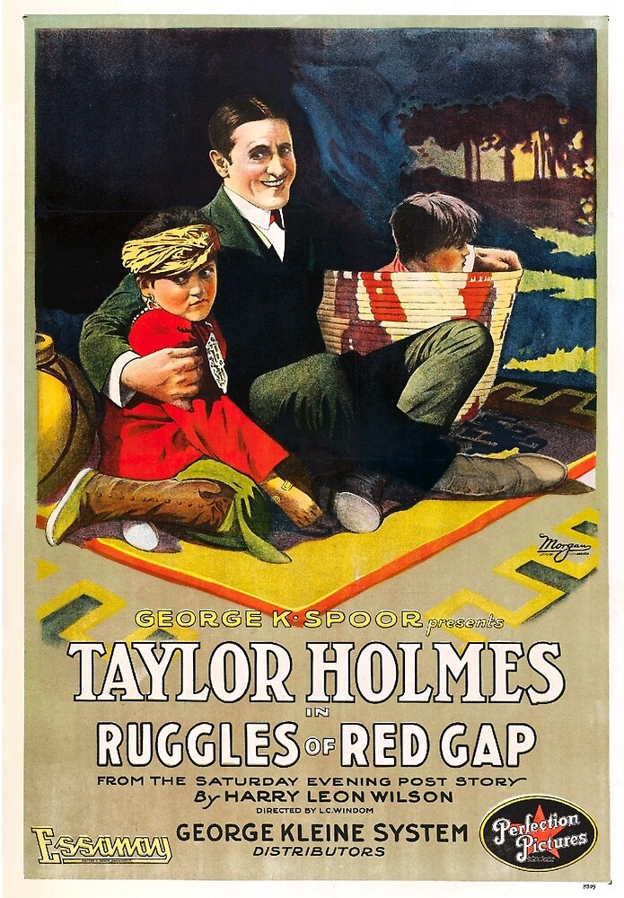 Vintage Hollywood Nostalgia Ruggles of Red Gap Film Movie Advertisement Poster by jnniepce