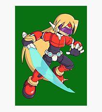 The Red Mega Man Photographic Print