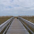 Hatteras Island Boardwalk To The Beach by DianaTaylor/ JacksonDunes