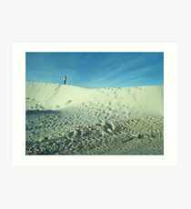 Photographing White Sands Art Print