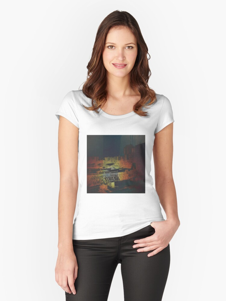 Night Script Women's Fitted Scoop T-Shirt Front
