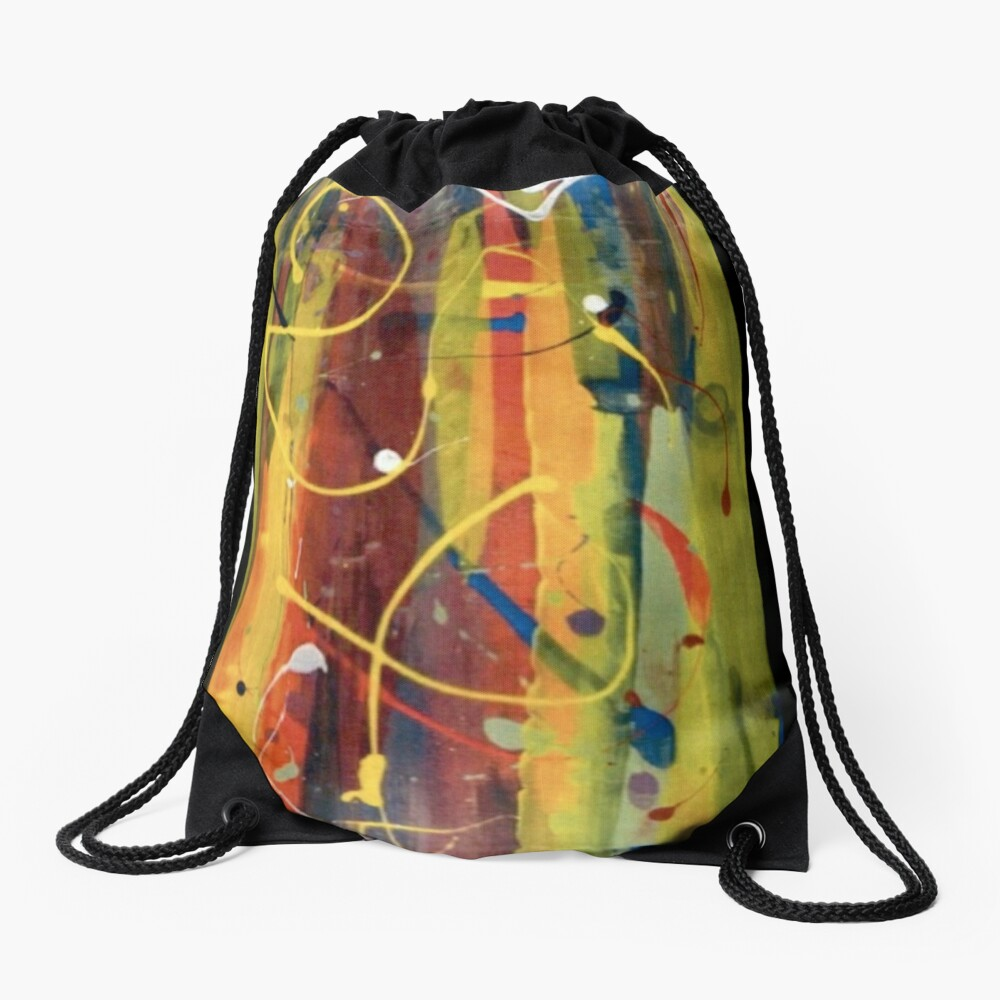 Open Flame Drawstring Bag