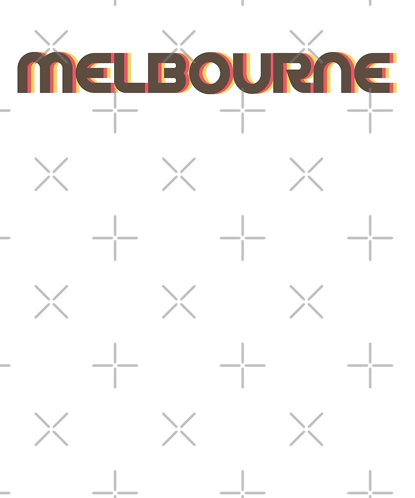 Retro Melbourne T-Shirt by designkitsch