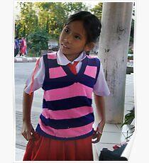 Thai schoolgirl Poster