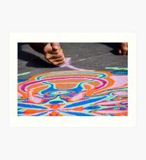 Artist's Hand & Colored Sand Art Print