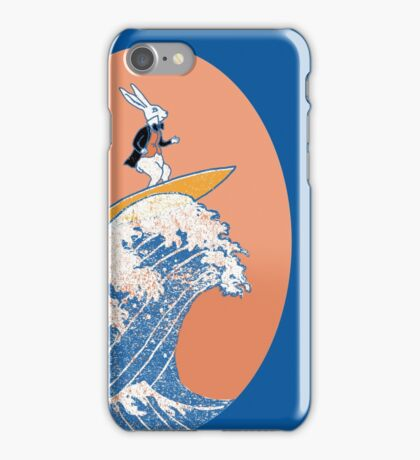 White Rabbit Surfing iPhone Case/Skin