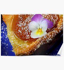 Apricot Tarte Avec Fleur Poster