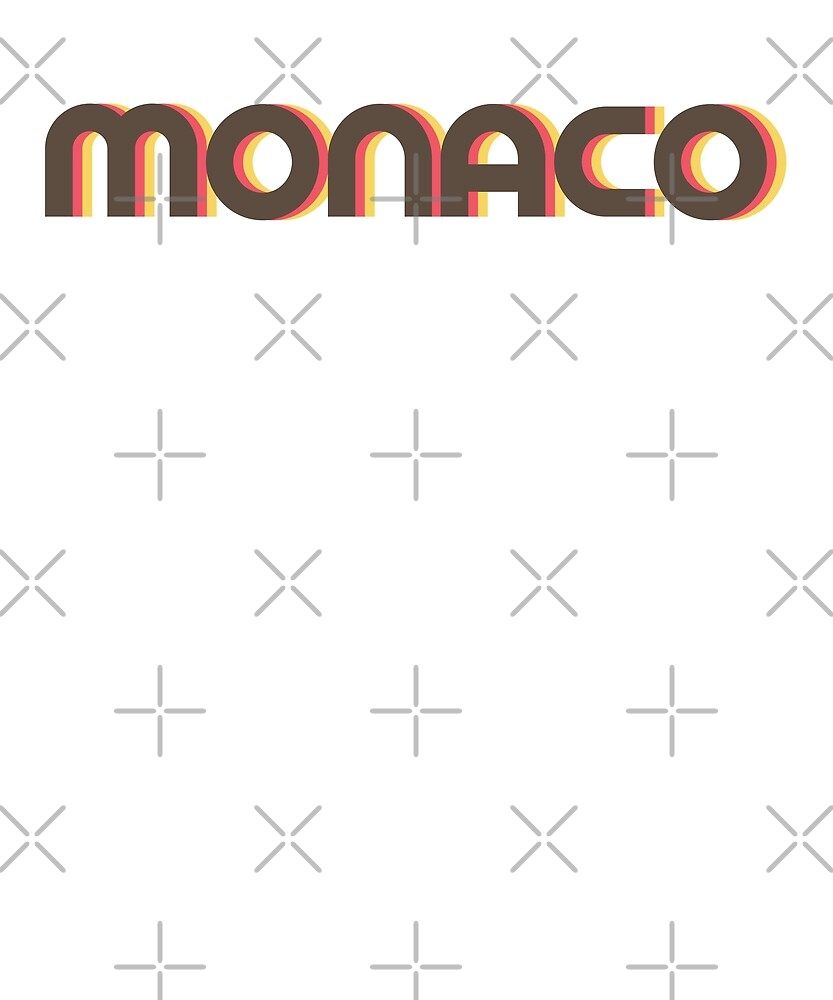 Retro Monaco T-Shirt by designkitsch