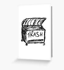 Trash Box Greeting Card