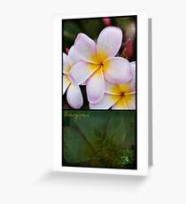 Frangipani - diptych Greeting Card