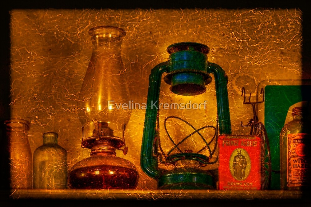 Bottles And Lamps by Evelina Kremsdorf