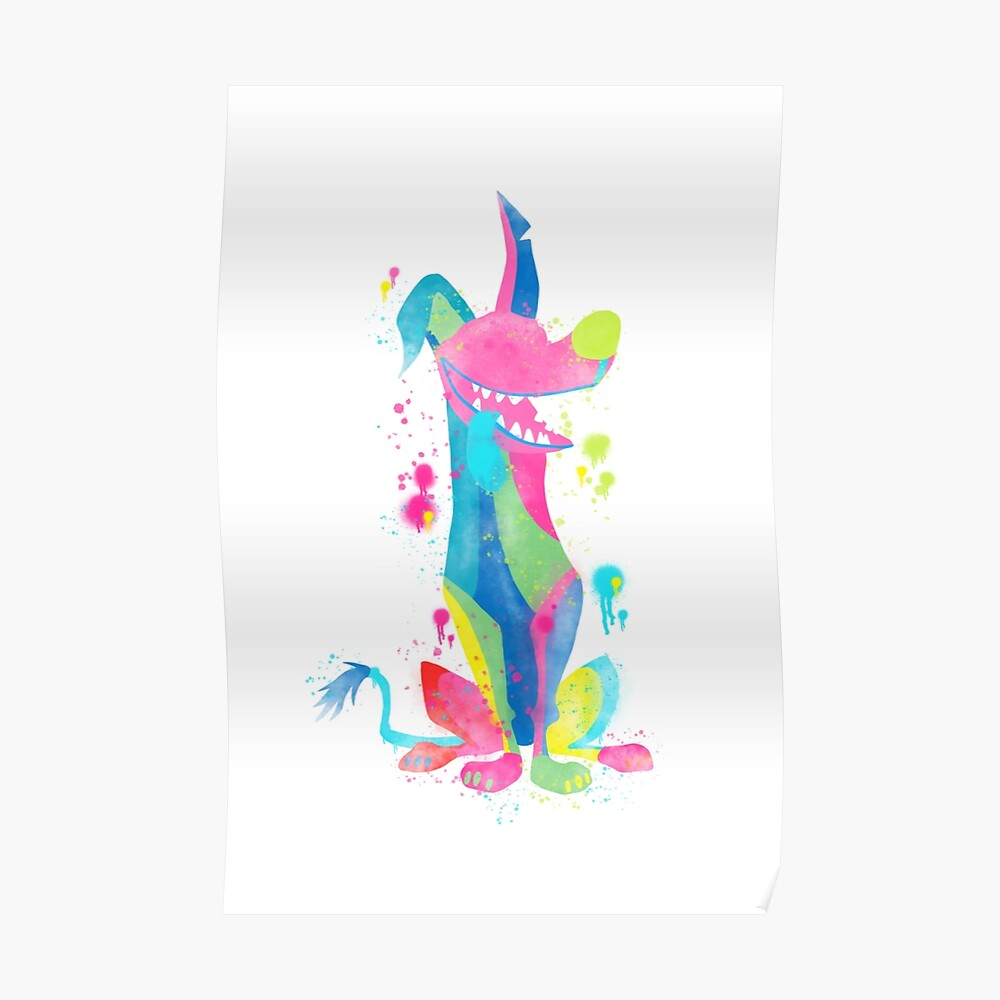 Dante Coco Disney Watercolour Inspired Dog Poster By