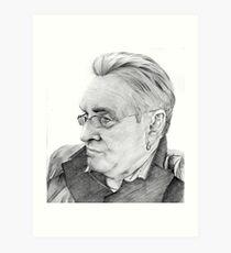 Alan Glover Pencil Portrait Art Print