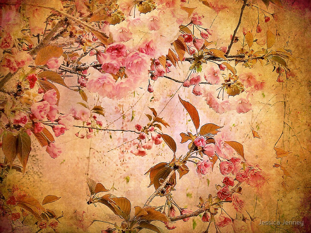 Cherry Blossom Tapestry by Jessica Jenney
