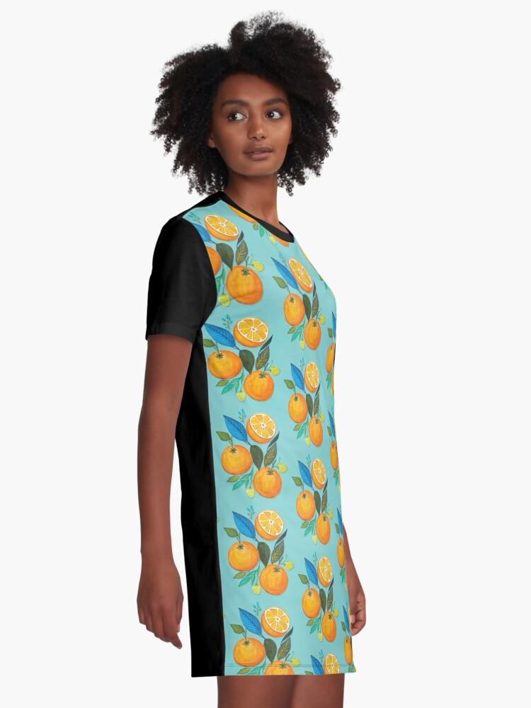 Alternate view of Lady Orange Graphic T-Shirt Dress