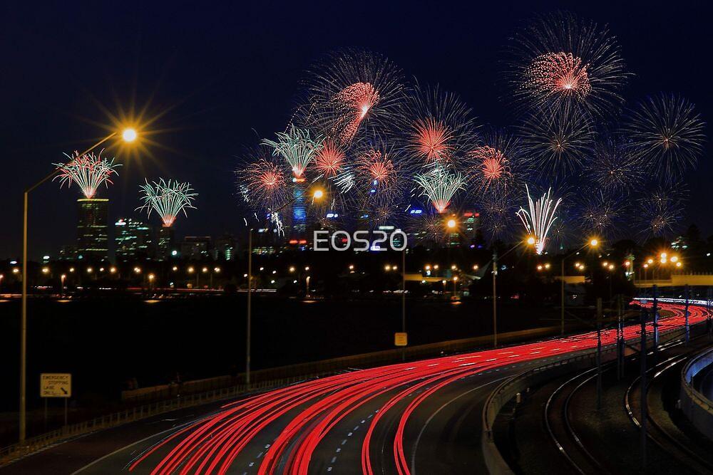 Australia Day Skyworks  by EOS20