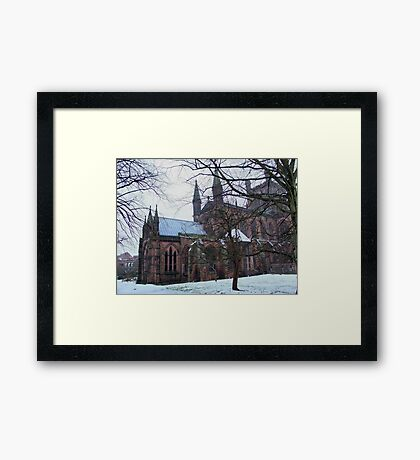 Chester Cathedral, UK Framed Print