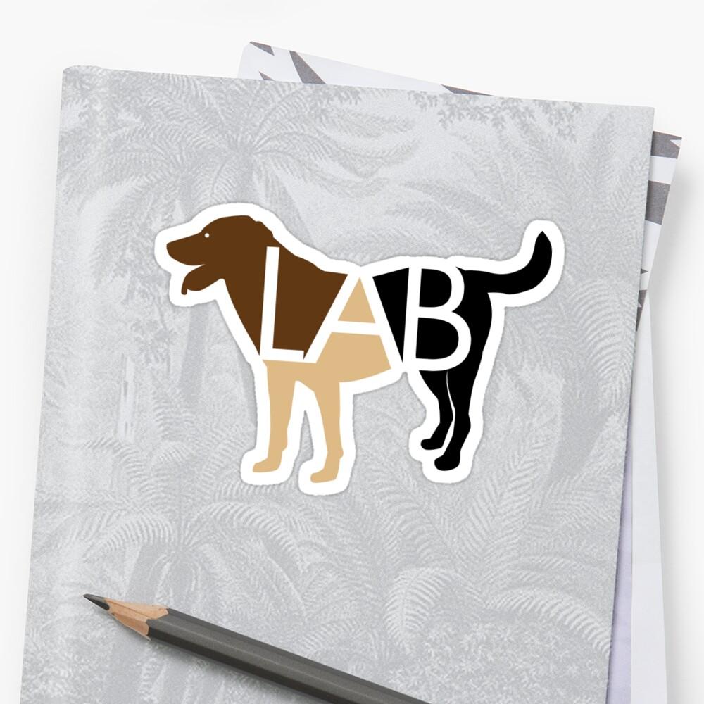 Labrador Labrador marrón chocolate amarillo y negro Pegatina