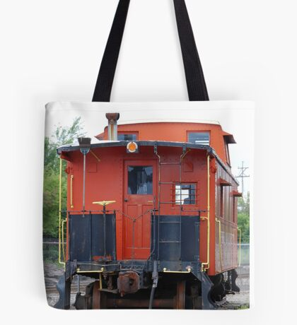Orange Train Tote Bag