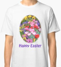 Happy Easter Spring Flowers Light T-Shirt Classic T-Shirt