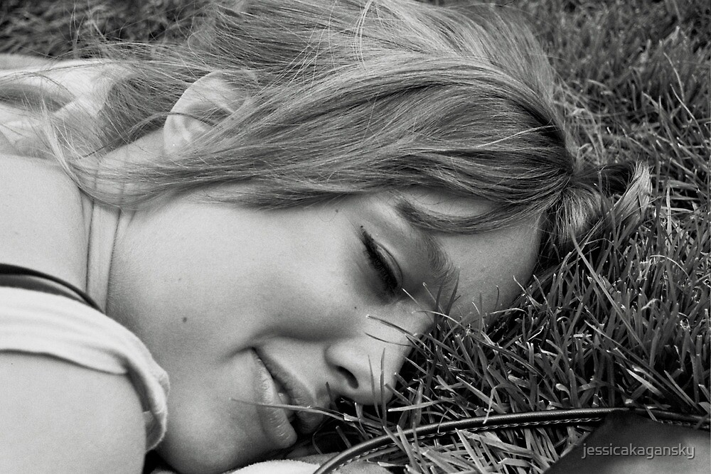 Inna Lays Down on the Grass by jessicakagansky