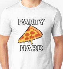 Party Hard Pizza Pixel Art T-Shirt