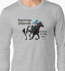 American Pharoah Triple Crown 2015 Long Sleeve T-Shirt