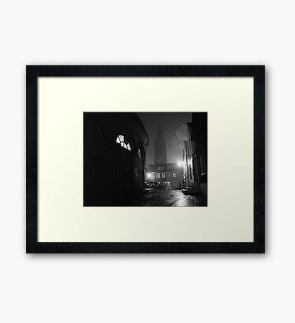 Shandon And The Firkin Crane In The Fog Framed Print