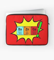 Bazinga! Humorous colorful chemistry geek design Laptop Sleeve