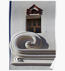 San Xavier Building Detail Poster