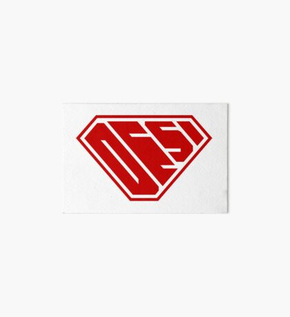 Desi SuperEmpowered (Red) Art Board Print