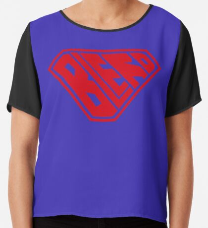Blerd SuperEmpowered (Red) Chiffon Top