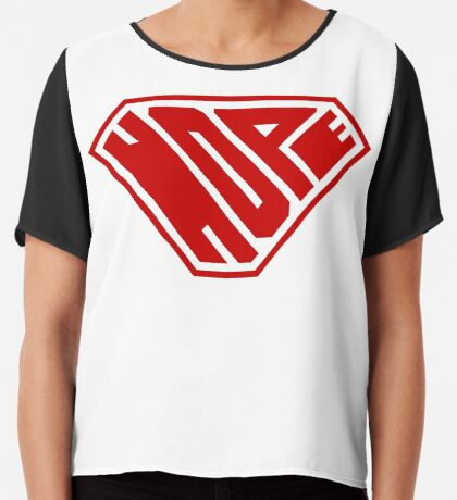 Hope SuperEmpowered (Red) Chiffon Top