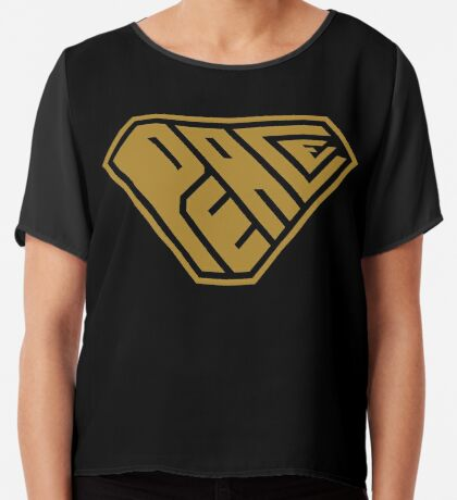 Peace SuperEmpowered (Gold) Chiffon Top