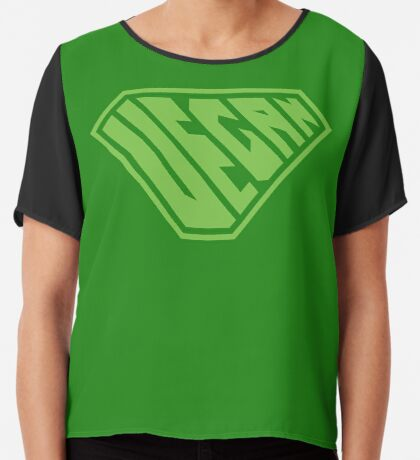 Vegan SuperEmpowered (Green) Chiffon Top