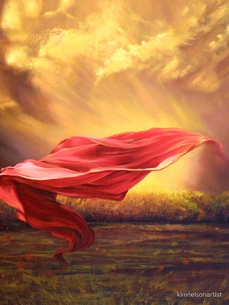 Red Shawl II by kimnelsonartist