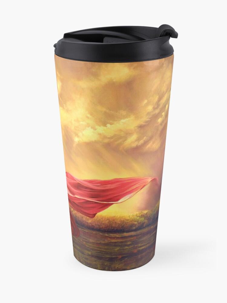 Alternate view of Red Shawl II Travel Mug