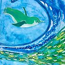 Swimming Penguin  by BlossomRevival