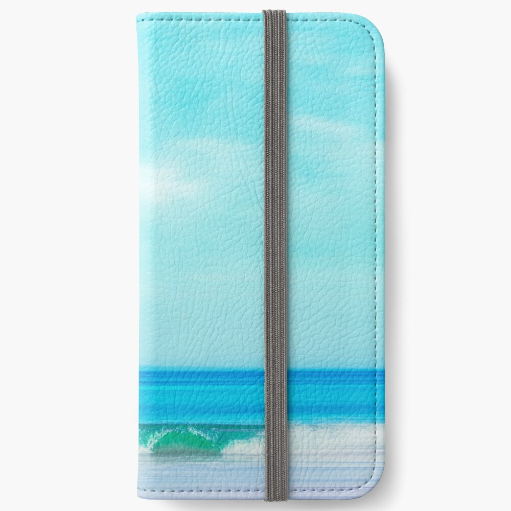 Green Wave - Abstract seascape iPhone Wallet