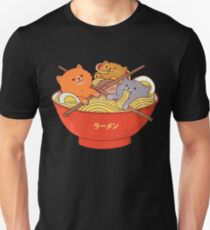 Kawaii Anime Cat japanische Ramen-Nudeln Slim Fit T-Shirt