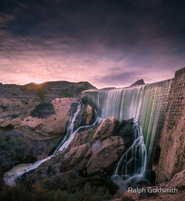 Sunset at Elche Dam by Ralph Goldsmith