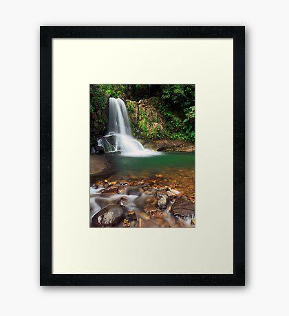 Waiau falls Framed Print
