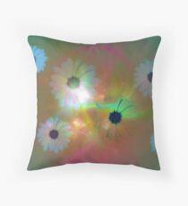 Flower Fractal Art Throw Pillow