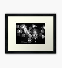 The light that burns twice as bright burns for half as long Framed Print