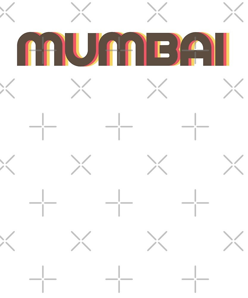 Retro Mumbai T-Shirt by designkitsch