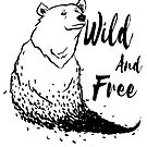 Wild and free bear and leaves by Airmatti