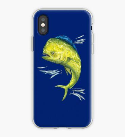 Mahi Mahi and baitfish iPhone Case
