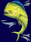 Mahi Mahi and baitfish by David Pearce