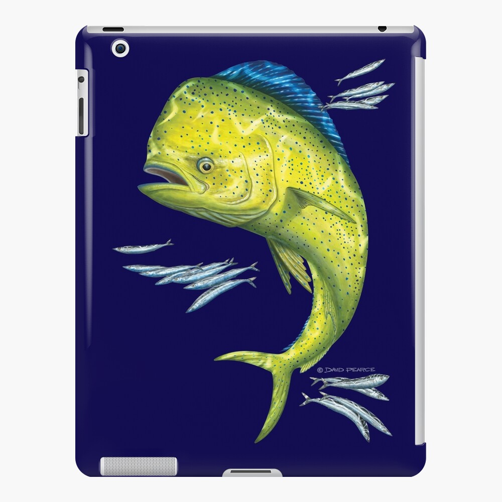 Mahi Mahi and baitfish iPad Snap Case