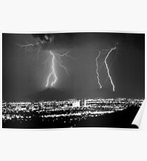 Phoenix Arizona Lightning Strikes Poster